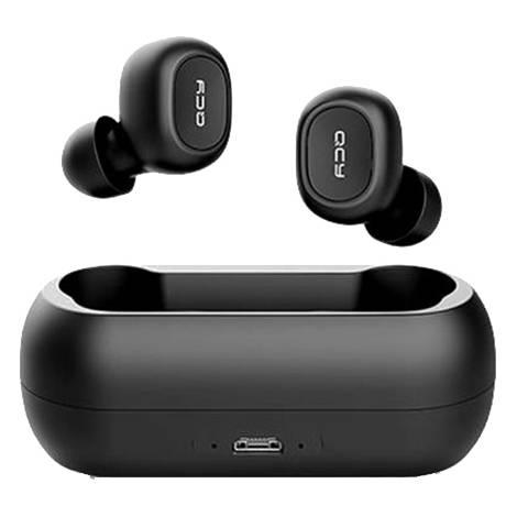 QCY T1C True Wireless Earbuds 5.0 Bluetooth Headphones 80hrs - Black