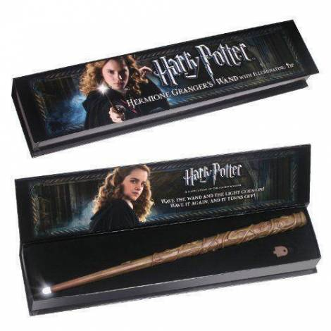 The Noble Collection Hermione Wand (Ραβδί) with illuminating tip  (Harry Potter) (NN8028)