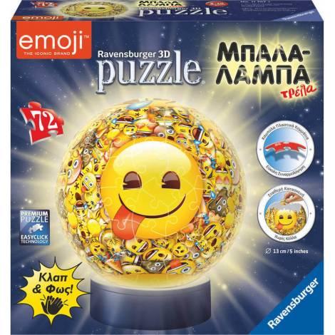 Ravensburger - 3D Puzzle Μπαλαλάμπα Τρέλα 72 Τεμ. Emoji (11767)