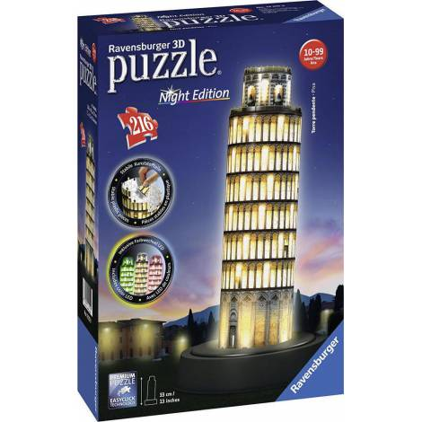 Ravensburger - 3D Puzzle Night Edition Leaning Tower of Pisa 216pcs (12515)