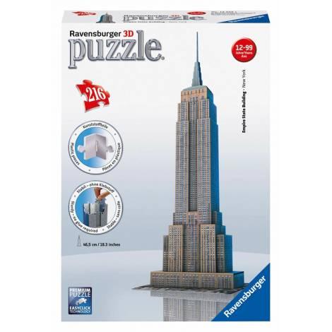 RAVENSBURGER PUZZLE 3D EMPIRE STATE BUILDING - NEW YORK (216pcs) (12553)