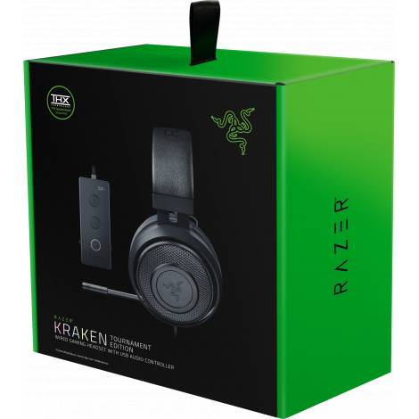 Razer KRAKEN TOURNAMENT (Black) - THX Audio Controller - Cooling Gel Ear Cups - Gaming Headset