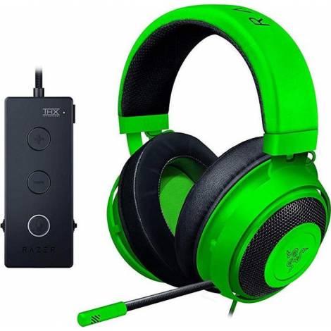 Razer KRAKEN TOURNAMENT (Green) - THX Audio Controller - Cooling Gel Ear Cups - Gaming Headset (ΚΑΙΝΟΥΡΓΙΟ ΚΟΜΜΑΤΙ - ΕΚΘΕΣΙΑΚΟ)