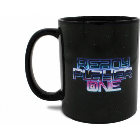 Numskull Ready Player One - RP1 Logo Black Heat Mug