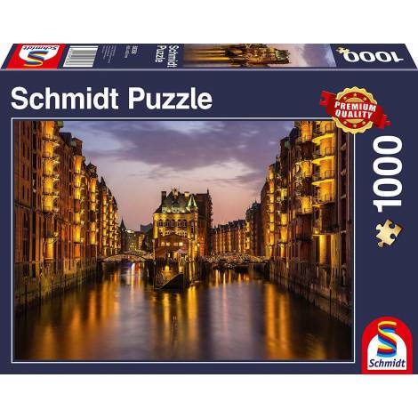 Schmidt 58358 - Hamburg in The Evening 1000pcs
