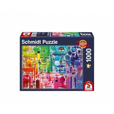 Schmidt 58958 Puzzle 1000St - Colors of the rainbow