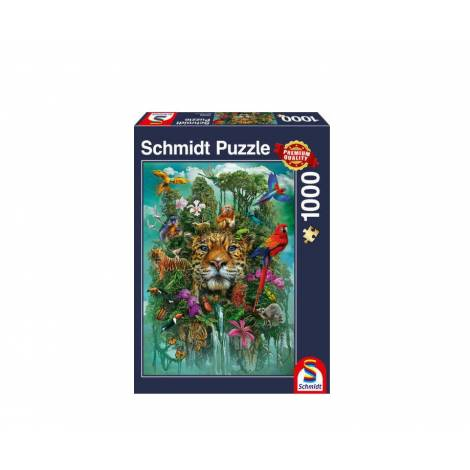 Schmidt 58960 Puzzle 1000St - King of the jungle