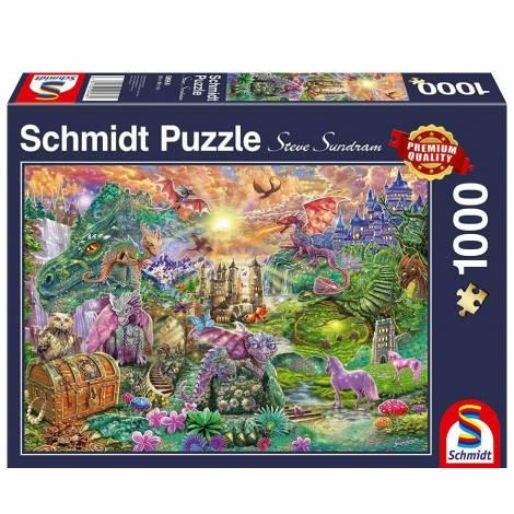 Schmidt 58966 Puzzle 1000St - Μαγεμένο Βασίλειο των Δράκων