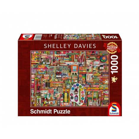 Schmidt 59698 Puzzle 1000St Shelley Davies - Βίντατζ υλικά ζωγραφικής
