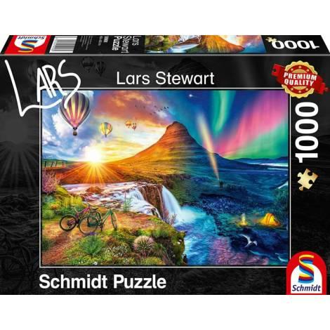 Schmidt 59908 Puzzle 1000St Lars Stwart Night and Day - Ισλανδία