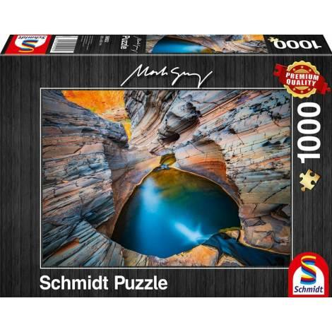 Schmidt 59922 Puzzle 1000St Mark Gray - Indigo