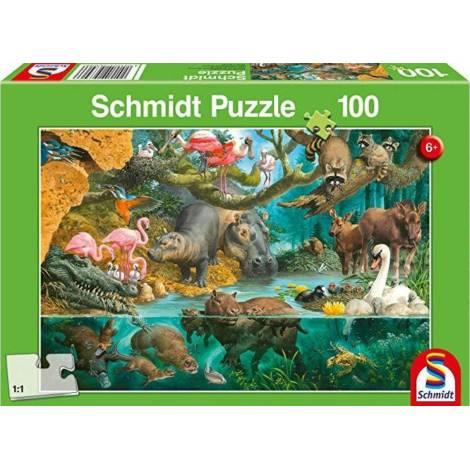 Schmidt Spiele Animal Families on the Banks 100pcs (56306)