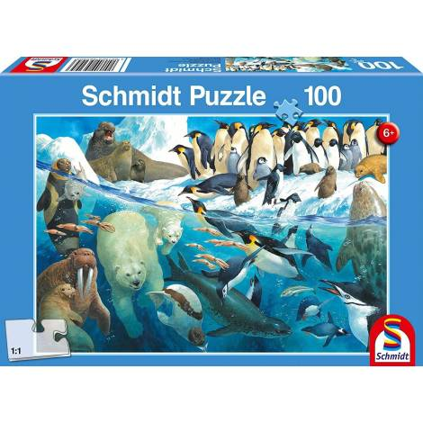 Schmidt Spiele Ζώα των Πόλων 100pcs (56295)