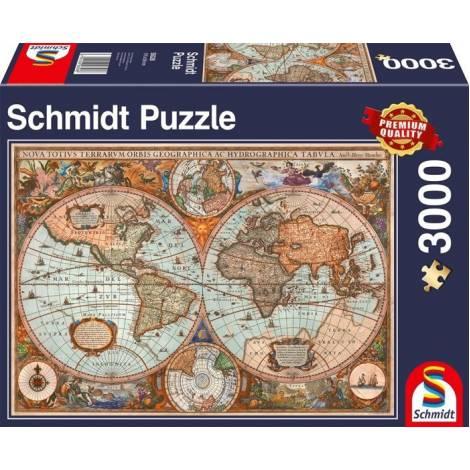 Schmidt Standard - Αρχαίος Παγκόσμιος Χάρτης 3000pcs (58328)