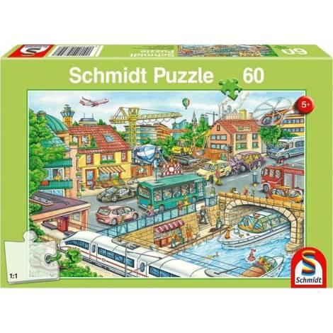 Schmidt Vehicles and Traffic 60pcs (56309) Spiele