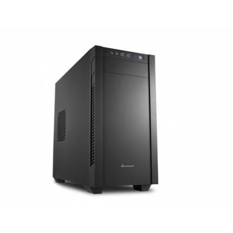 SHARKOON PC CHASSIS S1000, MINI TOWER ATX, BLACK, W/O PSU, 1x12CM FRONT FAN, 1x12CM REAR FAN, 2YW.