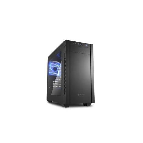 SHARKOON PC CHASSIS S1000 WINDOW, MINI TOWER ATX, BLACK, W/O PSU, 1x12CM FRONT FAN, 1x12CM REAR FAN, 2YW.