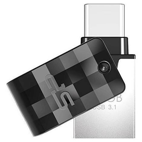 SILICON POWER Dual USB Flash Drive C31, USB 3.1 & Type-C, 128GB, μαύρο