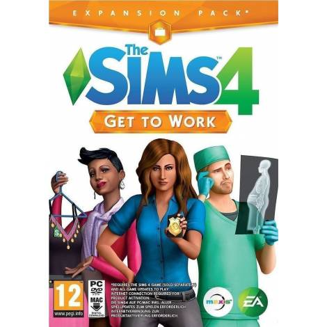SIMS 4 GET TO WORK (CD KEY ONLY κωδικός μόνο) (PC)