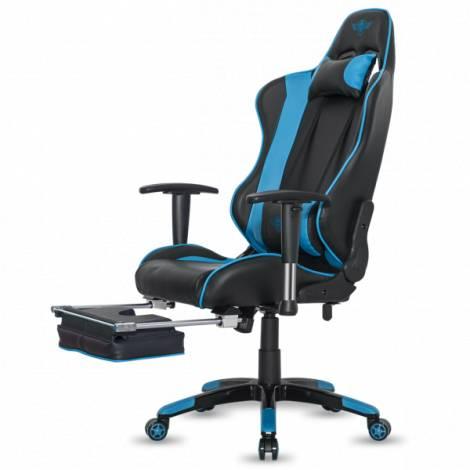 SoG High quality PVC leather gaming chair BLUE/BLACK (SOG-GCHBL)