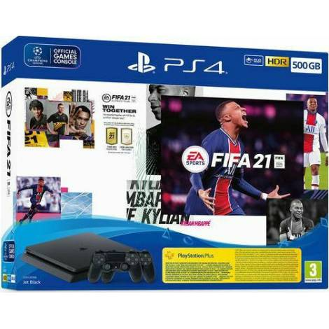 Sony PS4 Console 500gb Slim & Fifa 21 & 2nd Dualshock Controller & Fifa Fut Voucher (PS4)