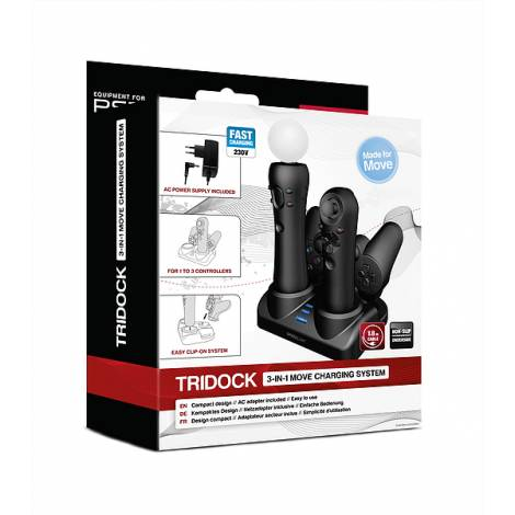 SPEEDLINK SL-4313-SBK TRIDOCK 3-IN-1 MOVE CHARGING SYSTEM FOR PS3® MOVE, BLACK