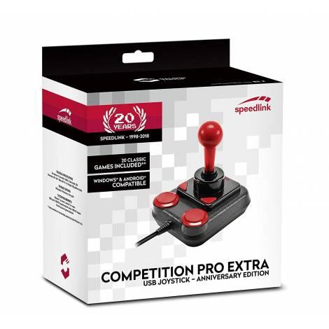 SPEEDLINK SL-650212-BKRD , COMPETITION PRO EXTRA USB JOYSTICK - ANNIVERSARY, BLACK-RED