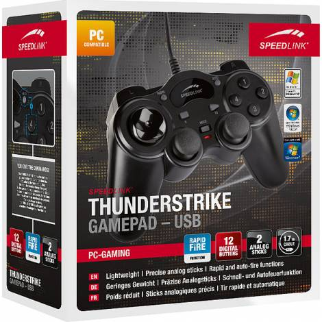 Speedlink SL-6515-BK Thunderstrike Gamepad - USB, BLACK