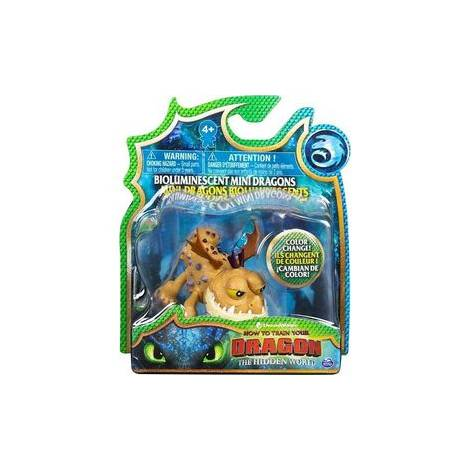 Spin Master - How to Train Your Dragon Mini Dragons Figures - Brown Dragon Color Change (20104711)