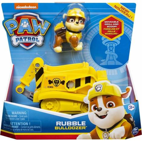 Spin Master Paw Patrol - Rubble Bulldozer Vehicle with Pup (20114323)