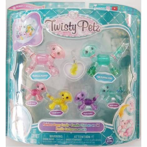 Spin Master Twisty Petz: Family 6 Pack - Rainbow Puppy Family (20116330)