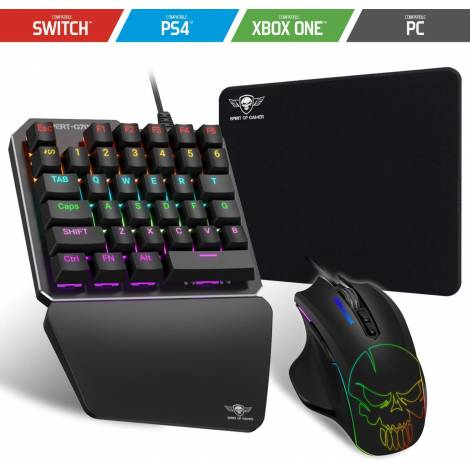 Spirit Of Gamer Adapter Combo RGB Keyboard + Mouse XPERT G700 (SOG-XG700) (Ps4/Xbox One/Pc/Nintendo Switch)