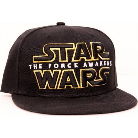 STAR WARS VII - THE FORCE AWAKENS LOGO BLACK SNAP BACK CAP