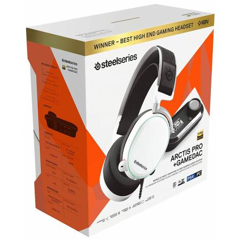 SteelSeries Arctis Pro GameDAC Gaming Headset white