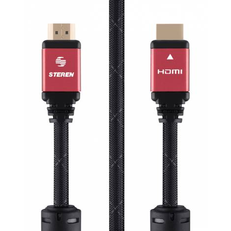 STEREN καλώδιο HDMI 2.0 , 4k 3D, Copper, 3.6m, κόκκινο (299-812-RD)