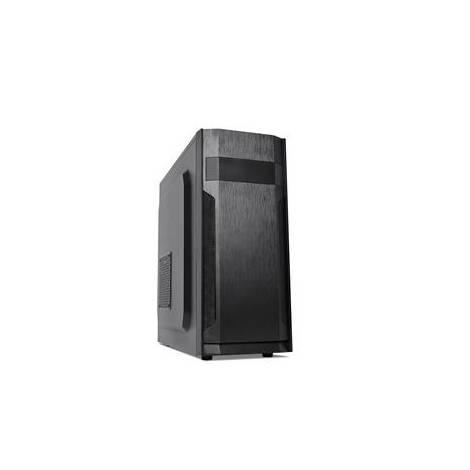 SUPERCASE PC CHASSIS F55A, MIDI TOWER ATX, BLACK, W/O PSU, 1x 8CM REAR FAN, 2YW.