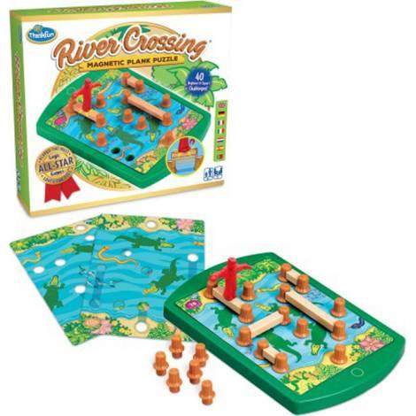 Think Fun Παιχνιδι λογικής River Crossing - Μαγνητικό Puzzle - επιτραπέζιο (76349)