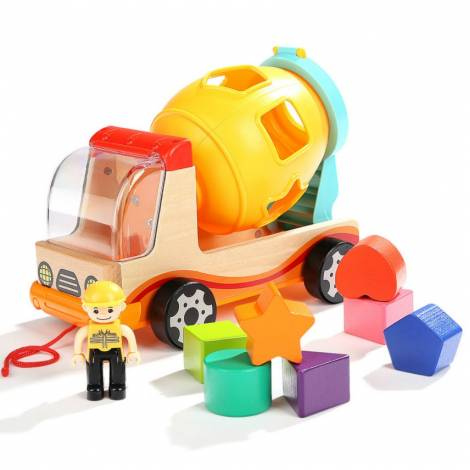 Top Bright Mixer Truck with Shape Sorter (460033)