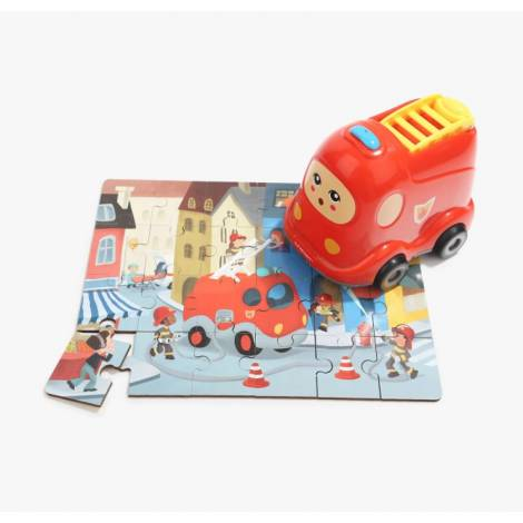 Top Bright Wooden Puzzles in Fire Truck (460008)
