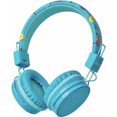 Trust Comi Wireless Kids Headphones Blue (23607)
