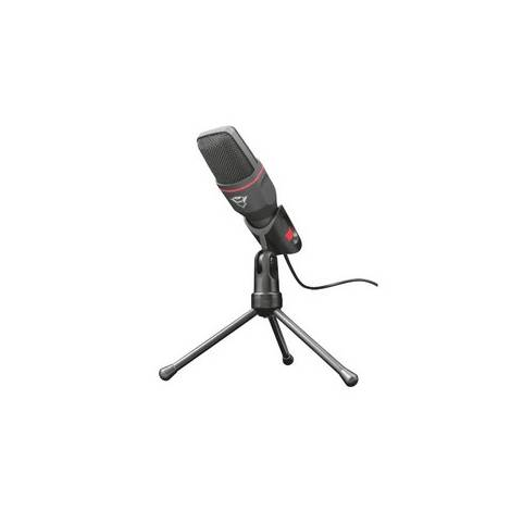 Trust Gaming GXT 212 Mico USB Microphone on Tripod (Mic with 3.5mm and USB connections, 1.80m cable, for Streaming, Twitch and Youtube) Black (23791)