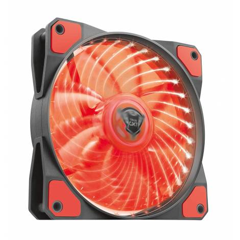 Trust Gaming GXT 762R 120 mm Case Fan for Gaming Computer, Black/Red (22349 )