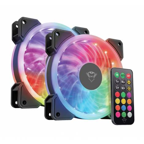 Trust Gaming GXT 770 RGB Illuminated PC Case Fan, pack of 2 - RGB Illuminated (22972)