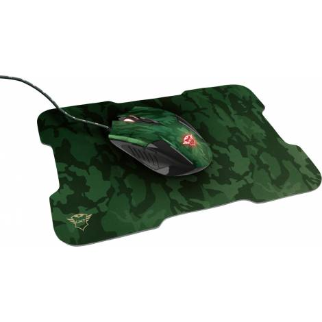 Trust GXT 781 Rixa Camo Gaming Wired Mouse & Mousepad (23611)