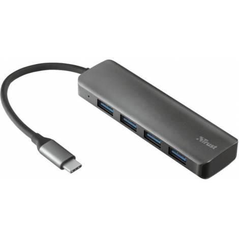 Trust Halyx Aluminium USB Type-C to 4-Port USB 3.0 Type-A Hub (23328)