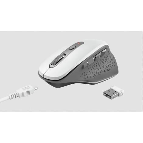 TRUST - OZAA Rechargeable Wireless Mouse - Άσπρο (24035)