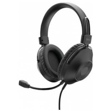 Trust Ozo On-Ear USB Headset - Black (24132)