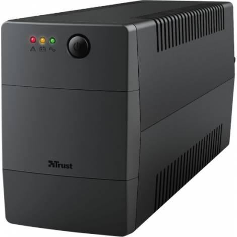 Trust Paxxon 800VA : UPS With 2 Standard Wall Power Outlets (23503)