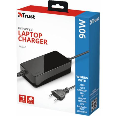 Trust Primo Laptop Universal Charger 90W-19V (22142)