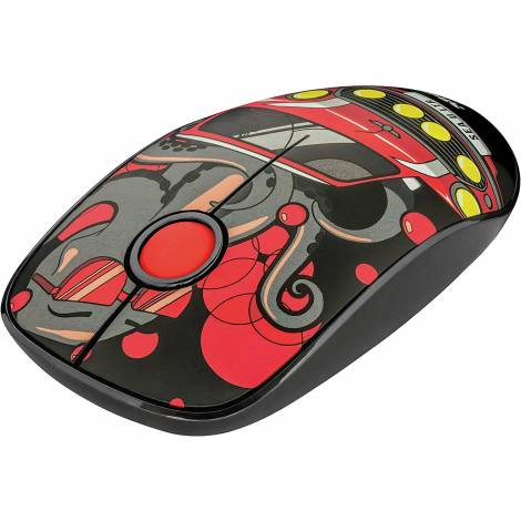 Trust Sketch Wireless USB Silent Mouse  1600 DPI - Red  (23336) (PC)
